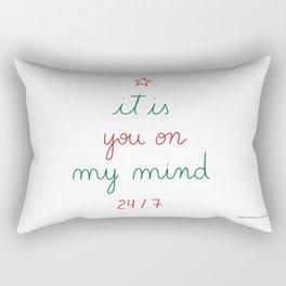 You on My Mind 24/7 Rectangular Pillow