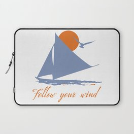 Follow your wind (sail boat) Laptop Sleeve