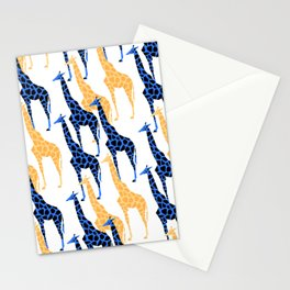 Giraffes march Stationery Cards