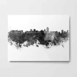 Albuquerque skyline in black watercolor Metal Print