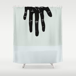 """Flipped"" from Minimalist Hand Collection Shower Curtain"