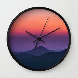 Sunset layers Wall Clock