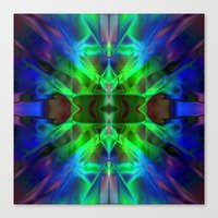 neon Canvas Prints featuring Neon by Assiyam
