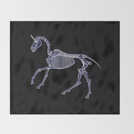 Unicorn Fossil Throw Blanket
