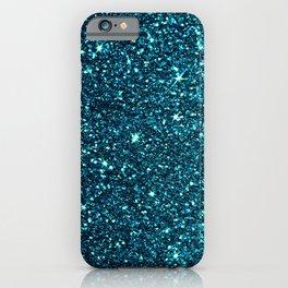 blue sparkle iPhone Case