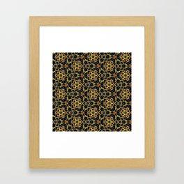 Beadwork Inspired Pattern Framed Art Print