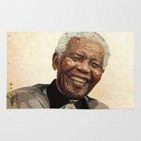 mandela Area & Throw Rugs featuring ICON: Mandela by Diavu'