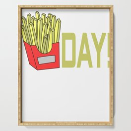Awesome Trend Design Fryday Tshirt Fryday!! Serving Tray