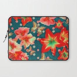 Amaryllis and Butterflies 2 Laptop Sleeve