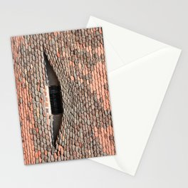 sibiu city romania traditional architecture detail roof tile eye Stationery Cards