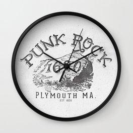Punk Rock Plymouth Ma. Wall Clock