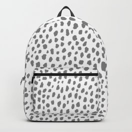 Gray Dalmatian Spots (gray/white) Backpack