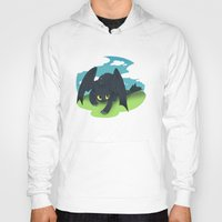 toothless Hoodies featuring toothless by tsurime