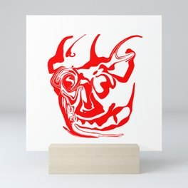 face8 red Mini Art Print