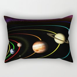 Solar System, the Sun, Planets, & Kuiper Belt by Image Editor Rectangular Pillow