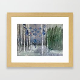 Snow in the Woods Framed Art Print