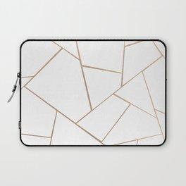 Rose Gold White Geometric Glam #1 #geo #decor #art #society6 Laptop Sleeve