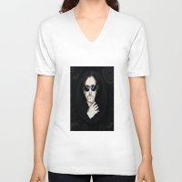 tim burton V-neck T-shirts featuring TIM BURTON by Rocky Rock