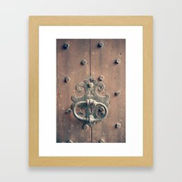 Rustic Door Knocker Framed Art Print