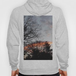 red clouds in the sky Hoody