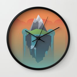 Floating Island (Mountain) Wall Clock
