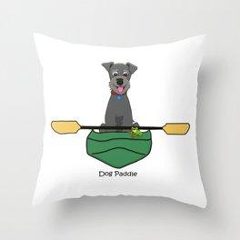 Dog Paddle Throw Pillow