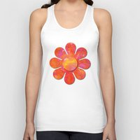 camo Tank Tops featuring Camo flowers by Shelly Bremmer