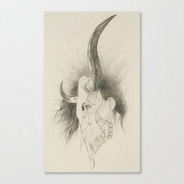 Skull Portrait Canvas Print