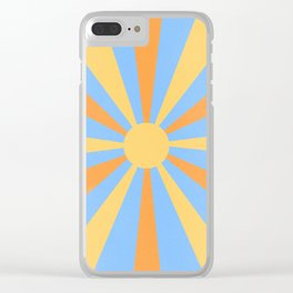 yellow and orange sunshine Clear iPhone Case