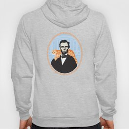 Abe Lincoln the first president to bring a cat to the White House Hoody