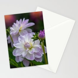 Porcelain Dahlia With Dewdrops Stationery Cards