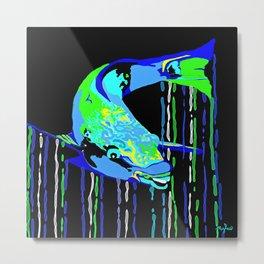 Caribbean Tropical Parrot Fish Metal Print
