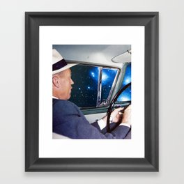night driving Framed Art Print