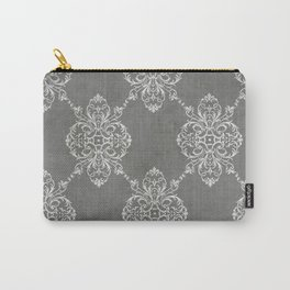 Vintage Damask - Charcoal Carry-All Pouch