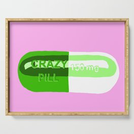 Crazy Pill Pink Serving Tray