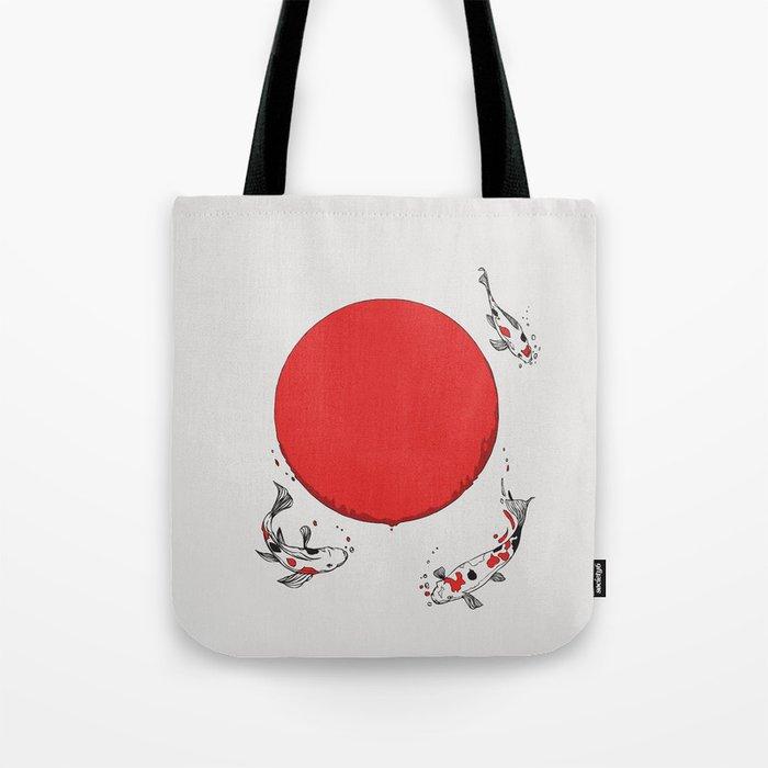 Koi and Sun Tote Bag