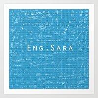engineer Art Prints featuring Engineer Sara by Be Raza