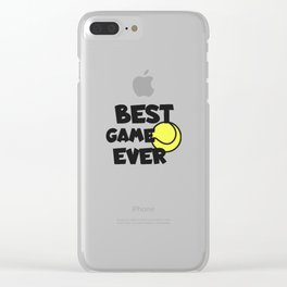Tennis best game ever Clear iPhone Case