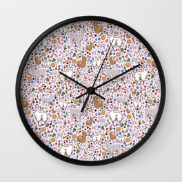 Pretty Llamas Wall Clock