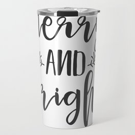 Merry and Bright Travel Mug