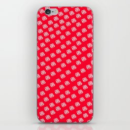 White Rose, Red Background iPhone Skin