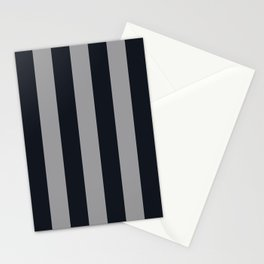 Vertical Stripes Black & Cool Gray Stationery Cards
