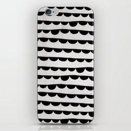 Black wave iPhone Skin