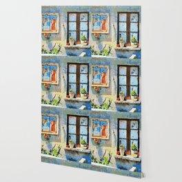Catanzaro: saintly edicule and window Wallpaper
