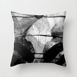 a stark winter morning Throw Pillow