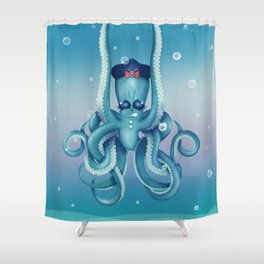 Octopus Dilemma Shower Curtain
