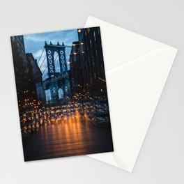 Manhattan Bridge Street Lights Stationery Cards