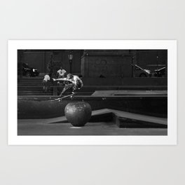 Young Skateboarder  Art Print