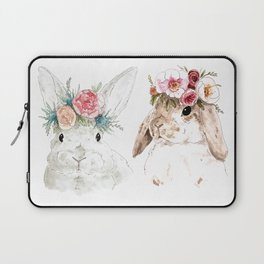 Flower Bunnies Laptop Sleeve