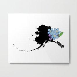 Alaska Silhouette Metal Print